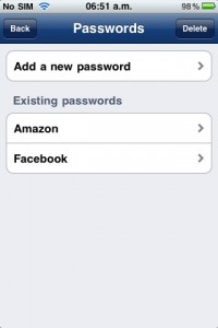 Alphapass for iPhone