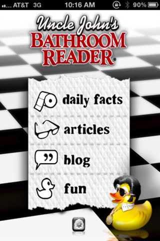 Uncle John's Bathroom Reader iPhone App Review