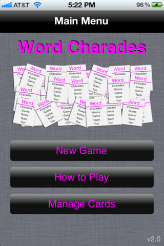 Word Charades iPhone App Review