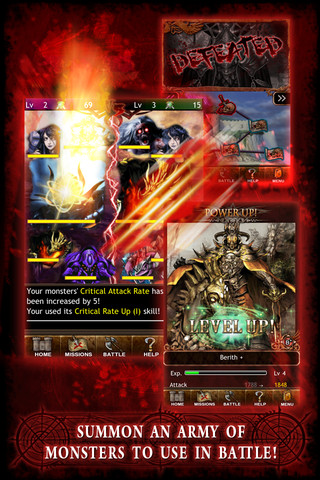 Dark Summoner iPhone App Revie Dark Summoner: My Monster is Bigger Than Your's