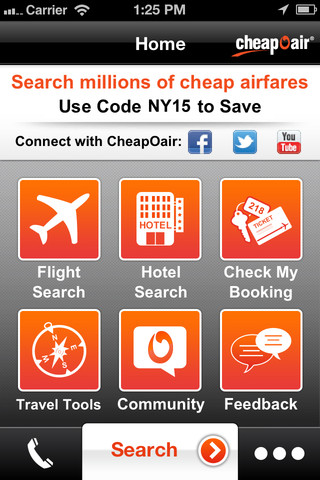 CheapOair Flight Search iPhone App Review