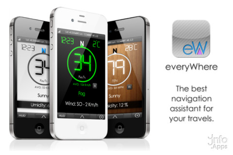 GPS Everywhere + HUD Mode iPhone App Review