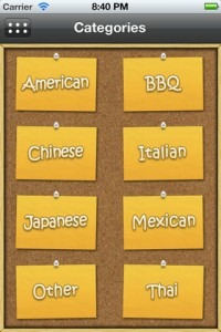 My TakeOut Menus for iPhone