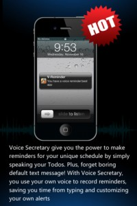 Voice Secretary for iPhone