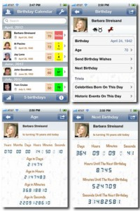 Birthday Calendar for iPhone
