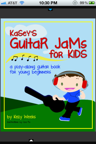 Kasey's Guitar Jams for Kids iPhone App Review