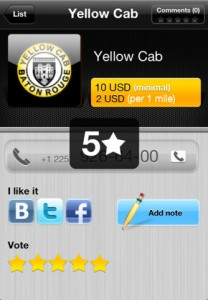 Taxi INT for iPhone