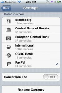 CurrencyGo for iPhone
