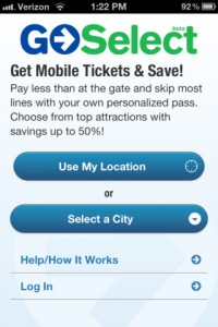 Go Select Passes for iPhone