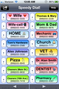Speedy Dial for iPhone