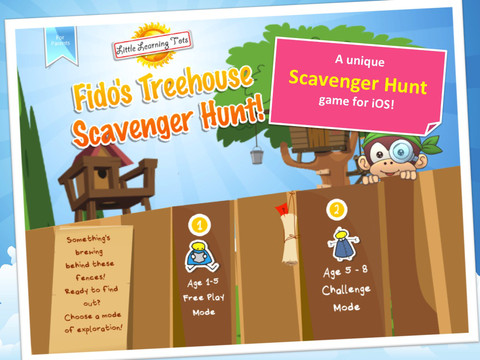 Fido's Treehouse Scavenger Hunt iPad App Review
