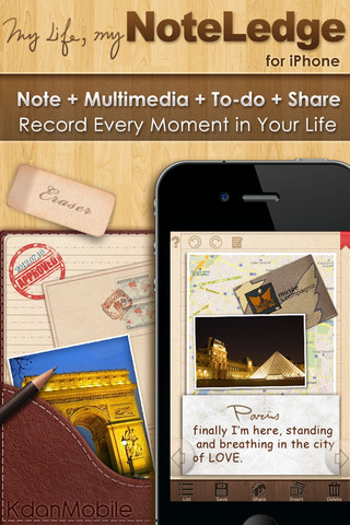 NoteLedge iPhone App Review
