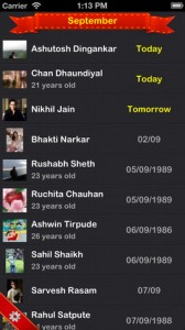 Birthdays for iPhone