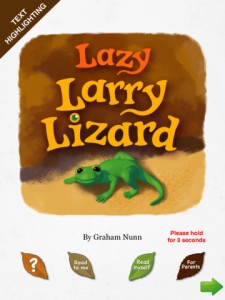 Lazy Larry Lizard for iPad 1 225x300 Lazy Larry Lizard: Leaping Lizards A Mighty!