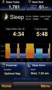 Sleep by MotionX for iPhon