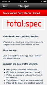totalspec for iPhone