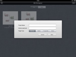 DB Designer for iPad