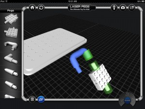 Laser Pegs for iPad
