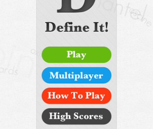 defineit homescreen 320x270 300x253 Define It!   The Next Big Word Game