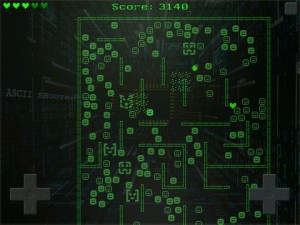 ascii shooter ss1 300x225 ASCII Shooter: a Challenging Old School Game for iPhone and iPad