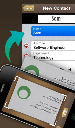 The SamCard Pro business Card app lets you organize your