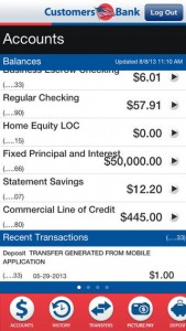 Customers Bank Mobile Banking iPhone App Review