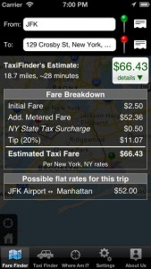 Taxi Finder for iPhone