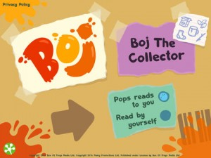 Boj   the Collector Is a New Interactive Storybook for iPad