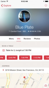 Open Table for iPhone