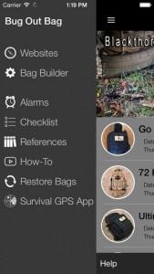 Bugout Bag Creator iPhone App