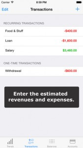 Money Forecast iPhone App