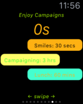 Election Campaign Task Tap on Apple Watch
