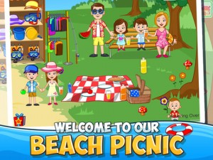 My Town : Beach Picnic iPhone Game