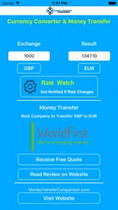Currency Exchange iPhone App
